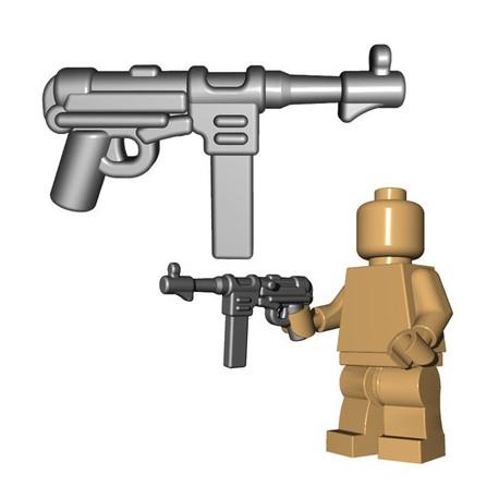 Lego Accessoires Minifigures - BrickWarriors - German SMG (Steel)