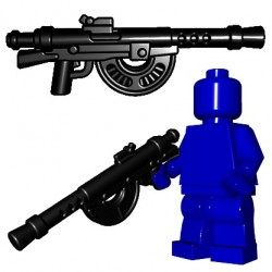 BrickWarriors - French LMG (Black)