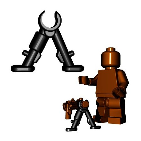 Lego Accessoires Minifigures - BrickWarriors - Bipod (Noir)