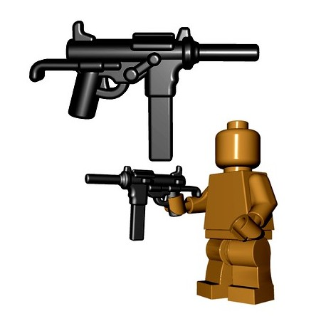 Lego Accessoires Minifigures - BrickWarriors - Grease Gun (Noir)