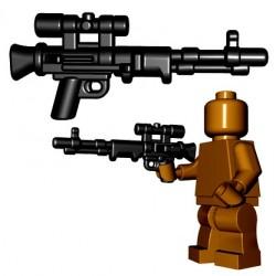 Lego Accessoires Minifigures - BrickWarriors - Fallschirmjager Rifle (Noir)