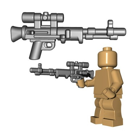 Lego Accessoires Minifigures - BrickWarriors - Fallschirmjager Rifle (Steel)