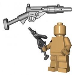 Lego Accessoires Minifigures - BrickWarriors - British SMG (Steel)