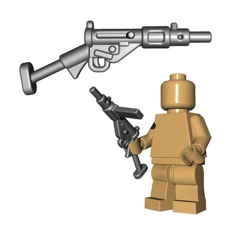 Lego Accessoires Minifigures - BrickWarriors - British SMG (Steel)