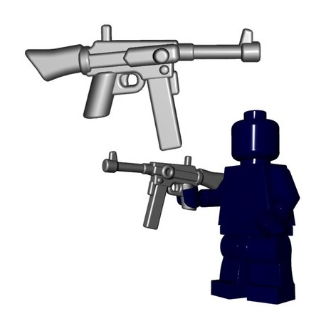 Lego Accessoires Minifigures - BrickWarriors - French SMG (Steel)