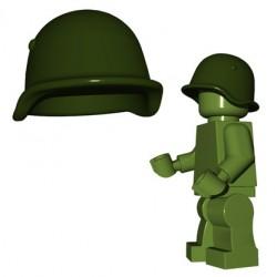 Lego Minifigures BrickWarriors - Casque Soviet (Vert Militaire)