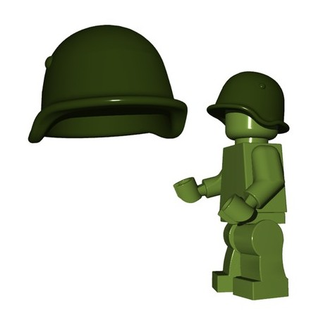 Lego Minifigures BrickWarriors - Casque Soviet (Vert Militaire)