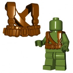 Lego Minifigures BrickWarriors - Soviet Suspenders (Marron)