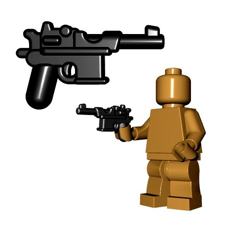 Lego Minifigures BrickWarriors - WW2 Semi Auto Pistol (Noir)