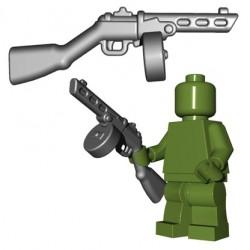 Lego Minifigures BrickWarriors - Soviet SMG (Steel)