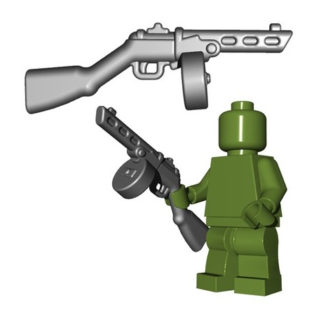 Lego Minifigures BrickWarriors - Soviet SMG (Steel)