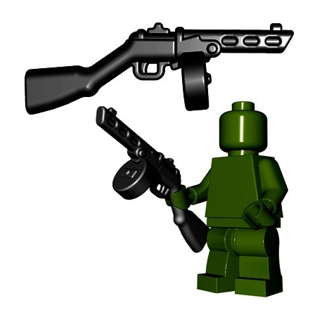 Lego Minifigures BrickWarriors - Soviet SMG (Noir)