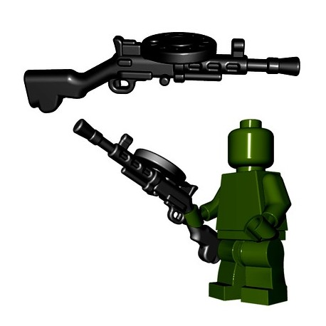 Lego Minifigures BrickWarriors - Soviet LMG (Noir)