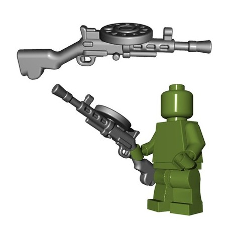 Lego Minifigures BrickWarriors - Soviet LMG (Steel)