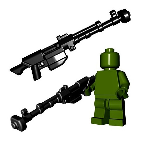 Lego Minifigures BrickWarriors - Anti Tank Rifle (Noir)
