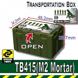 Lego Si-Dan Toys - Transportion Box TB415 (Vert Militaire - M2 Mortar)