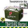 Lego Si-Dan Toys - Transportion Box TB415 (Vert Militaire - M2 Mortar)