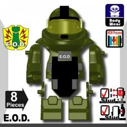 Lego Minifig Si-Dan Toys - E.O.D TS70 (Vert Militaire)