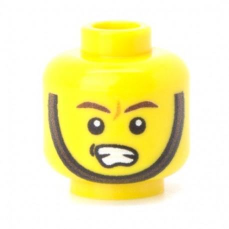 Lego Militaire Minifig Co. - Tête - Jugulaire 02 Jaune
