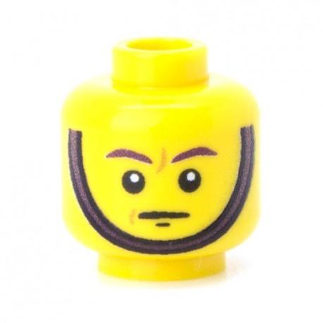 Lego Militaire Minifig Co. - Tête - Jugulaire 03 Jaune
