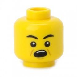 Lego Minifig Co. - Tête - Woah Jaune