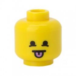 Lego Minifig Co. - Tête - Moqueur Jaune