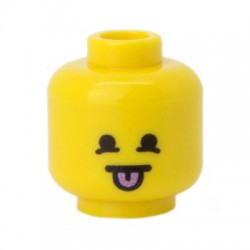 Minifig Co.- Mocking Head (Yellow)