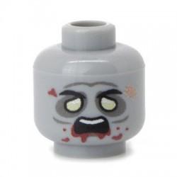 Minifig Co.- Zombie Head (Light Bluish Gray)