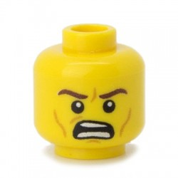 Minifig Co.- Angry Head (Yellow)
