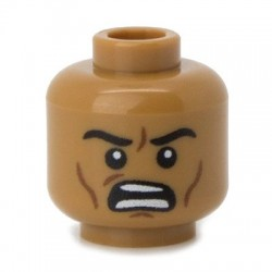 Minifig Co.- Angry Head (Medium Flesh)