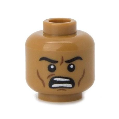 Lego Custom Minifig Co. - Tête - Colère (Medium Flesh)