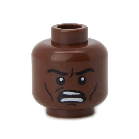 Minifig Co.- Angry Head (Reddish Brown)