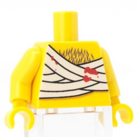 Lego Custom Minifig Co. - Torse Blessé (Jaune)
