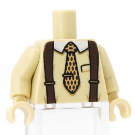 Minifig Co.- Tie Torso (Tan)