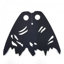 Lego Minifigure Capemadness - Cape Battle Damaged (Noir)