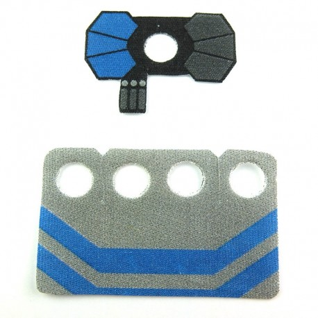 Lego Custom CapeMadness Epaulette et Kama (bleu) Fives La Petite Brique
