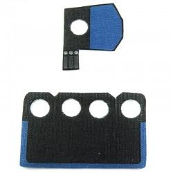 Lego Custom CapeMadness Epaulette et Kama (bleu) Rex La Petite Brique
