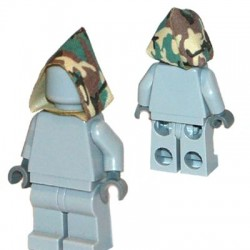 Lego Accessoires Minifigure Custom Capemadness - Capuche (Camo Woodland)