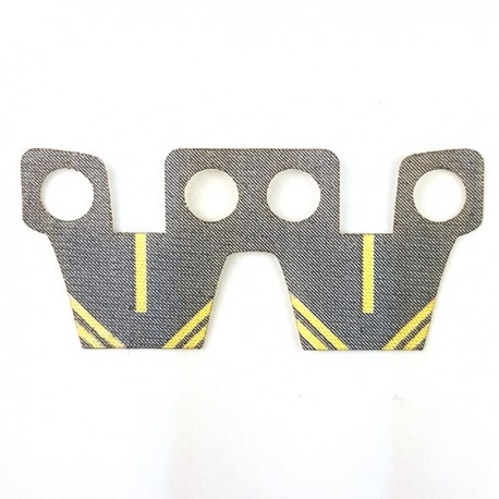 Lego Accessoires Minifigure Custom Capemadness - Waist cape Kama (Gris & bandes jaunes)