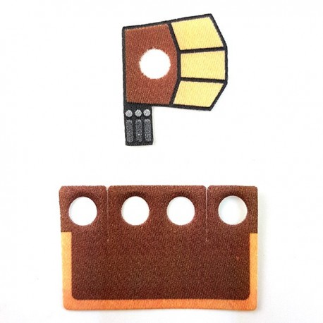 Lego Accessoires Minifigure Custom Capemadness - Epaulette et Kama Flame Trooper 2