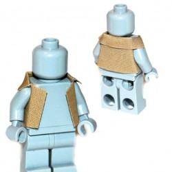 Lego Accessoires Minifigure Custom Capemadness - AR Jacket (Beige foncé)