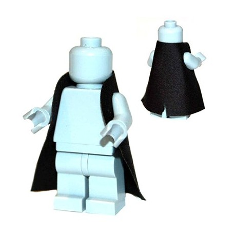 Lego Accessoires Minifigure Custom Capemadness - Rounded Trench Coat (Noir)