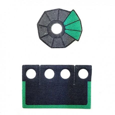 Lego Accessoires Minifigure Custom Capemadness - Epaulette et Kama Vert
