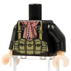 Lego Accessoires Minifigure Custom Minifig Co. - Torse Viet Cong