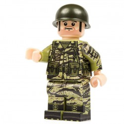 Lego Minifig Co. - Minifigure Vietnam Grunt (Tigerstripe)