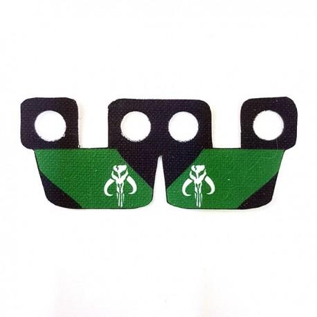 Clone Army Customs- Waistcape Black & Green, White Mando