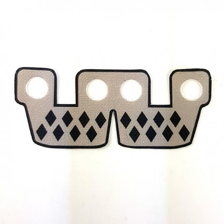 Clone Army Customs- Waistcape Light Gray With Diamonds