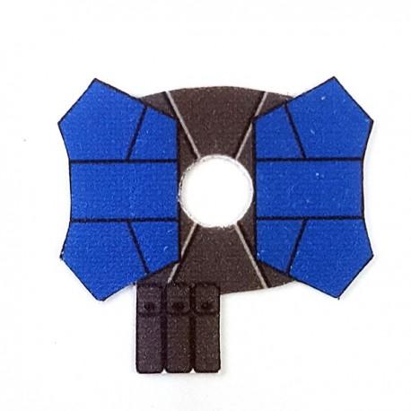 Lego Accessoires Minifigure - Clone Army Customs- Shoulder Double Blue