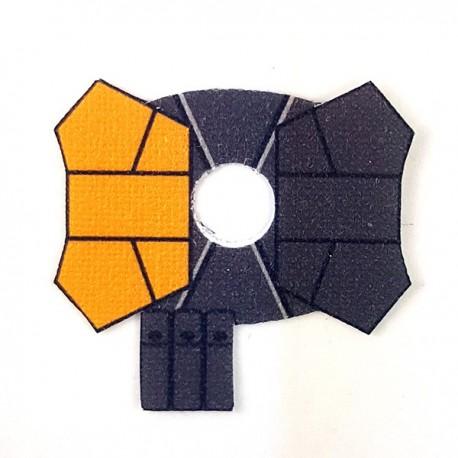 Lego Accessoires Minifigure - Clone Army Customs- Shoulder Pauldron Jaune