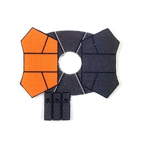 Lego Accessoires Minifigure - Clone Army Customs- Shoulder Pauldron Orange